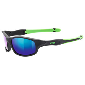 UVEX sportstyle 507 Kids Glasses black mat green